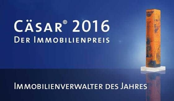 award 2016 brichard immobilien - cäsar