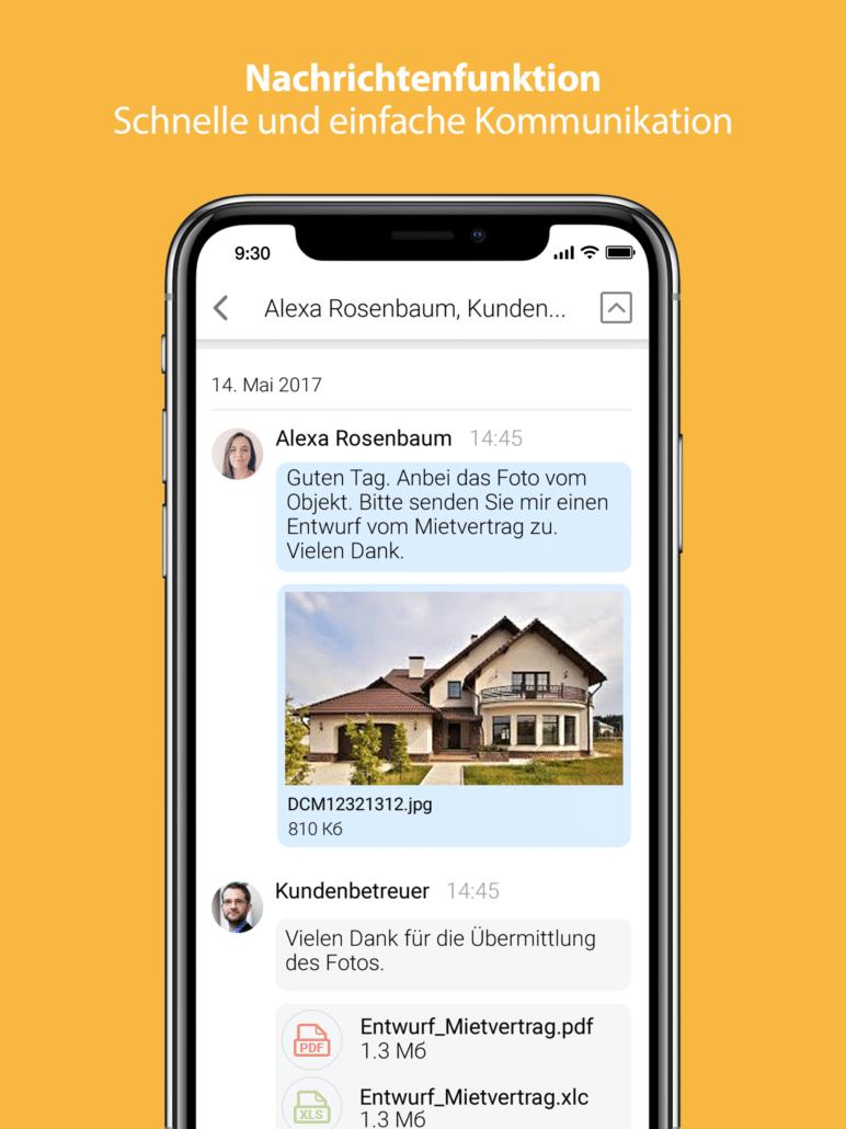 Brichard app - Nachrichtenfunktion